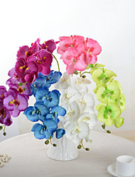 1 Piece Orchid Artificial Flowers DIY Artificial Butterfly Orchid Silk Flower Bouquet Phalaenopsis Wedding Home Decoration