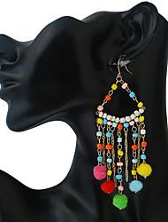 Women's Drop Earrings Ball Earrings Tassel Geometric Vintage Handmade Statement Jewelry Polyresin Resin Chrome Irregular Jewelry For