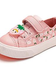 Girls' Flats Comfort First Walkers PU Spring Casual Comfort First Walkers White/Yellow Blushing Pink Flat