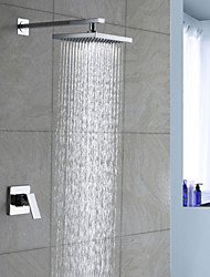 Contemporary Brass Chrome Shower Faucet with 8 inch Shower Head