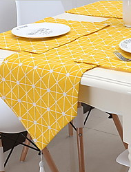 Yellow Linen Garden Simple Table Flag