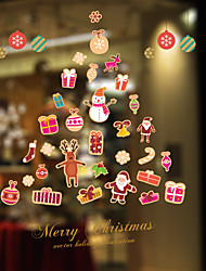 Noël Romance Vacances Stickers muraux Autocollants avion Autocollants muraux décoratifs Matériel Décoration d'intérieur Calque Mural