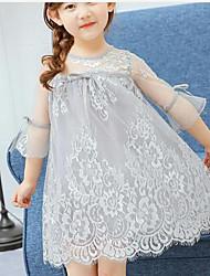 Girl's Print Dress Summer Short Sleeve