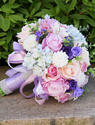 Свадебные цветы Букеты Свадебное белье Бусины Кружево 25 см