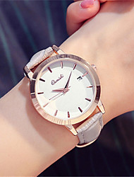 Women's Fashion Watch Wrist watch Quartz Calendar Leather Band Black White Grey