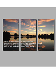 Ocean Sunrise Scenery Posters For Modern Home Wall Art Livingroom Background 3Panels Unframed Landscape Canvas Painting