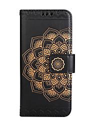 Caso per la mela iphone 7 più 7 portafoglio portafoglio flip modello rippato modello pieno corpo cassa del fiore mandala fiore per iphone