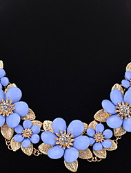 Mujer Chica Gargantillas Collares de cadena Collares Declaración Cristal Forma de FlorDiseño Único Colgante Perla Amistad Adorable