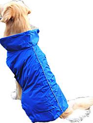 Собака Жилет Одежда для собак Водонепроницаемый Сплошной цвет Оранжевый Желтый Пурпурный Красный Синий