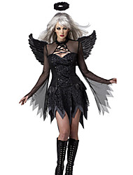 Cosplay Costumes Masquerade Party Costume Angel/Devil Cosplay Festival/Holiday Halloween Costumes Black Others VintageDresses Wings