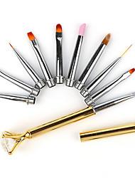 pinceau à ongles pinpai outils à pointillés quantité 10pcs photothérapie ligne de dessin stylo multifonction
