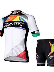SPAKCT Maillot et Cuissard de Cyclisme Homme Manches Courtes Vélo Cuissard  / Short Maillot Ensemble de Vêtements Cyclisme Faible