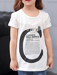 Girls' Others Tee,Cotton Summer