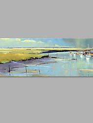 Pintada a mano Paisaje Horizontal,Artístico Un Panel Lienzos Pintura al óleo pintada a colgar For Decoración hogareña
