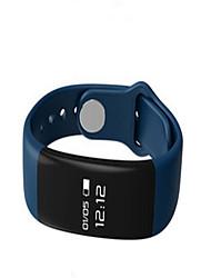 Men's Smart Watch Digital Silicone Band Black White Blue