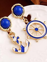 Drop Earrings New Mismatching Asymmetry Earrings  Fashion Vintage Punk Boat Anchor For Women Movie Gift Jewelry