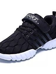 Boys' Athletic Shoes Comfort Light Soles Spring Fall PU Walking Shoes Athletic Lace-up Flat Heel Black Ruby Blue Flat