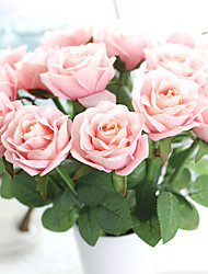 17inch Large Size 5 Heads Silk Polyester Roses Tabletop Flower Artificial Flowers