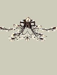 LightMyself 10 Lights Modern Crystal Ceiling Lamp Black Indoors Lights for Living Room Bedroom Dining Room