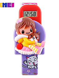 Kid's Digital Watch Digital Plastic Band Pink Purple