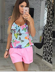Women's Medium Waist Micro-elastic Loose Shorts Pants,Chinoiserie Relaxed Pure Color Solid