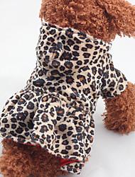 Cachorro Vestidos Roupas para Cães Casual Leopardo Leopardo
