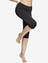 Per donna Pantaloni da corsa Asciugatura rapida Elastico per Yoga Esercizi di fitness Maglia Nero S M L XL