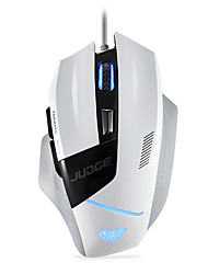 AULA 6 Buttons  80IPS LED 4000DPI USB Game Mouse White