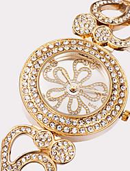 ASJ Mulheres Relógio de Moda Relógio de Pulso Japanês Quartzo Impermeável Mostrador Grande Aço Inoxidável Lega BandaPrata Dourada Ouro