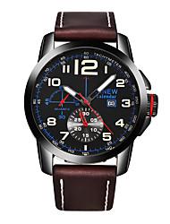 Муж. Нарядные часы Модные часы Кварцевый Натуральная кожа Группа Повседневная Черный Коричневый Хаки