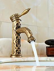 Moderne Soupape céramique 1 trou for  Bronze , Robinet lavabo