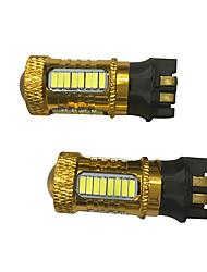 2pcs pwy24w pw24w llevó los bulbos para el audi a3 a4 a5 q3 vw mk7 golf cc luces de la señal de vuelta del frente / bmw f30 3 series drl