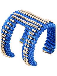 Mulheres Bracelete Pulseiras Algema Pulseiras de identificação Moda Vintage Estilo Boêmio Estilo Punk Ligas de Ferro Resina Formato Oval