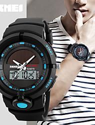 SKMEI Муж. Спортивные часы электронные часы Японский Кварцевый Календарь Защита от влаги С двумя часовыми поясами тревога Фосфоресцирующий