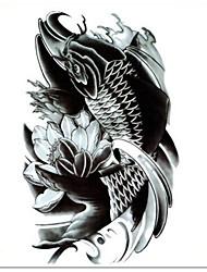 Temporary Tattoos Leg Shoulder Animal Series  3D Waterproof Tattoos Stickers Non Toxic Glitter Large Fake Tattoo Body Jewelry Halloween Gift 22*15cm