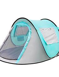 3 a 4 Personas Tienda Solo Carpa para camping Tienda pop up Impermeable Templado Resistente a la lluvia Tienda Protección Solar 1000-1500