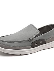 Masculino sapatos Linho Verão Outono Conforto Mocassins e Slip-Ons Combinação Para Casual Cinzento Verde Azul
