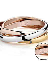 Lovers ring 18K rose gold prize on the three ring tricyclic ring three piece female ring hot