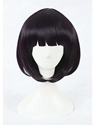 жен. Парики из искусственных волос Без шапочки-основы Короткий Фиолетовый Парики для косплей Карнавальные парики