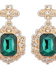 Femme Boucles d'oreille goutte Imitation de diamantBasique Original Pendant Acrylique Amitié Bijoux Fantaisie Simple Style Durable USA