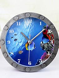 Underwater World Shoal of Fish Modern/Contemporary Nautical Wall ClockRound Novelty Indoor Clock