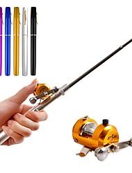1m Mini Telescopic Rod Combo Portable Float Ice Fishing Rod Pocket Pen Fishing Combo Chidren Fishing Rod pole pesca Metal wheel