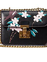 Women Shoulder Bag PU All Seasons Casual Outdoor Rectangle Clasp Lock Blushing Pink Black White