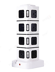 US Plug Four Layers Power Socket with 16 Outlets and 2 USB Ports