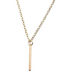 Femme Collier court /Ras-du-cou Pendentif de collier Bijoux Forme Géométrique Plaqué or AlliageBasique Original Tatouage Pendant Naturel