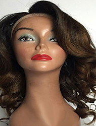Medium Aubrun Ombre Middle Part Human Hair Wigs Glueless Full Lace Indian Human Virgin Hair Wigs With Baby Hair For Black Women