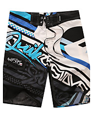 Men's Quick-Drying Breathable Bottoms Prints Beach/Swim Shorts Polyester Summer Green/Blue/Orange