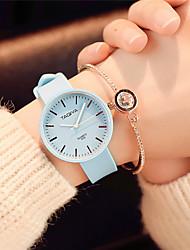 Mujer Reloj de Moda Reloj de Pulsera Chino Cuarzo Silicona Banda Caramelo Casual Elegantes Minimalista Negro Blanco Verde Rosa Azul marino