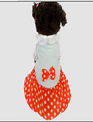 Cachorro Casacos Vestidos Roupas para Cães Casual Pontos Laranja