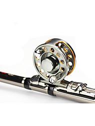 Reel Fishing Roulement Moulinet mouche 6.3:1 3 Roulements à billes Droitier GaucherPêche en mer Pêche à la mouche Pêche d'eau douce Pêche
